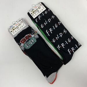 Friends the TV Series 4 Pairs Casual Novelty Socks Central Perk Size 6-12