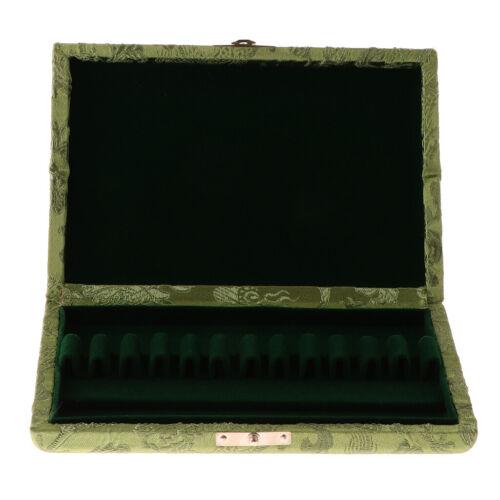 1 Stück Massivholz Oboe Reed Case Box Halter Mit Grünem Seidenbezug