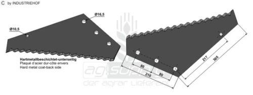 Futtermischwagenmesser - Hartmetall beschichtet