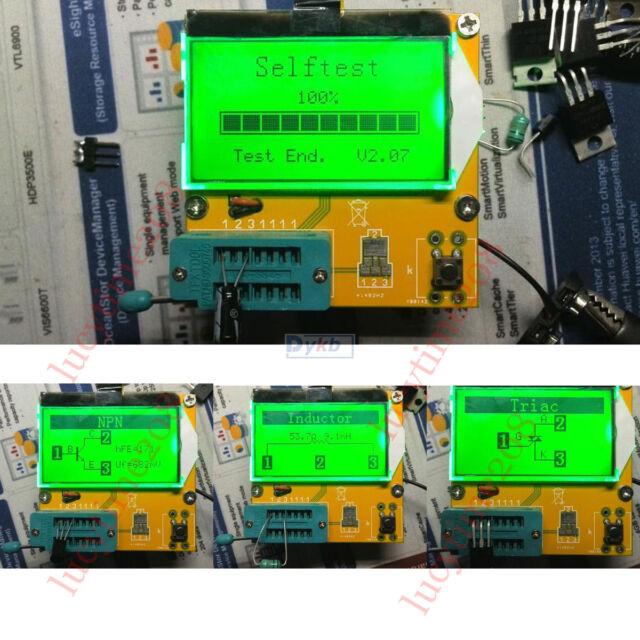 12864 lcd ESR Transistor Tester Meter Diode Triode Capacitance MOS/PNP/NPN LCR R