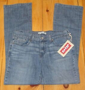 Levi-Womens-515-Jeans-Boot-Cut-Medium-Wash-Denim-Blue-Mid-Rise-Size-8L-8-Long