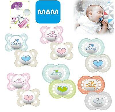 Baby anneau de dentition tétine sucette tétine mamelon 0m+//6m Garçon//Fille 2Pk MAM Nature