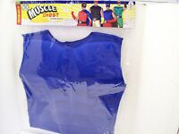 Superhero Blue Costume Muscle Chest - Adult -