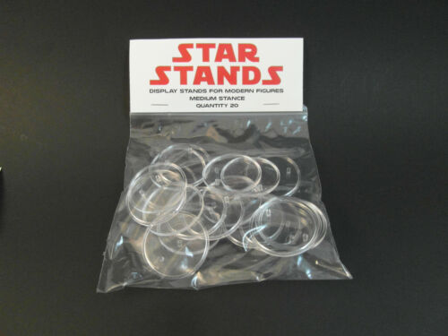 40 x Medium Disc Rogue One-Star Wars Action Figure Display Stands-T4c