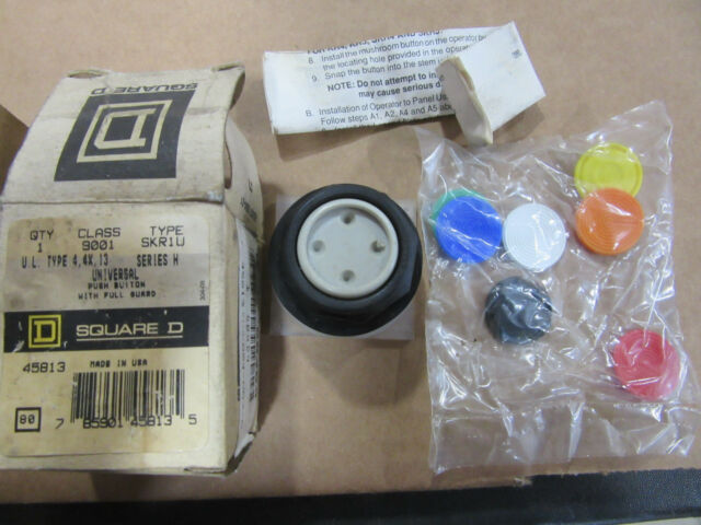 Square D 9001SKR1U Push Button with Multi Color Lens NEW!!! in Box Free Shipping
