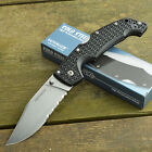 Cold Steel Large Voyager Part Serrated Stonewash AUS 8A Knife 29TLCH