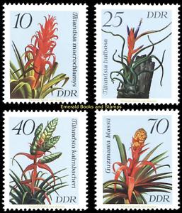 EBS-East-Germany-DDR-1988-Flowers-Bromeliads-Michel-3149-3152-MNH