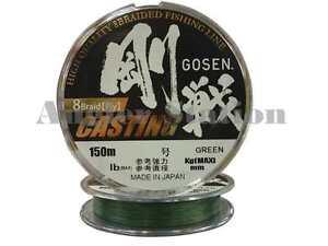 Gosen-W8-Casting-8-Braid-Ply-0-8-16lb-150m-Braided-Fishing-Line-Green