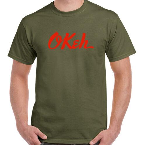Okeh Mens Retro Record Label T-Shirt Little Richard Louis Armstrong Music Top