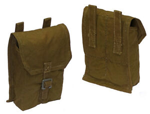 1950s Ex-Army Belt Pouch Olive Canvas Soviet hunting cartridge bag ...