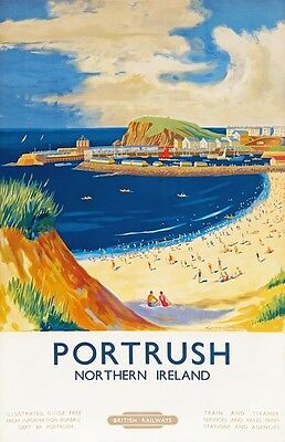 TX333 Vintage Portrush Northern Ireland British Railway Travel Poster A2/A3/A4