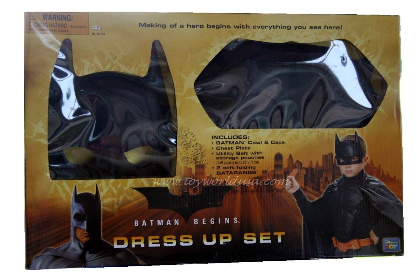 Batman Begins Dress Up Set Cowl and Cape Cape Cape ed6391