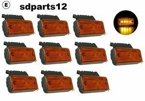 8x 12V//24V 10 Led Orange Feux De Gabarit Latéraux Camion Fourgon Chassis Van