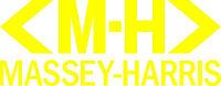 Massey-harris Tractor Vinyl Decals - Set Of 2 - Yellow