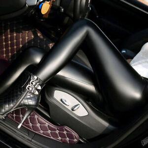 Mujer-Estrecho-Piel-Sintetica-Elastico-Pantalones-Leggings-Justados-Pitillo-Lind