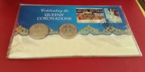 2013-CELEBRATING-QUEENS-CORINATION-DUEL-1-DOLLAR-COIN-039-S-PNC-LOW-RESERVE