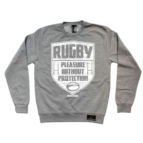 Rugby plaisir sans protection Sweat RUGGA équipe drôle cadeau d/'anniversaire