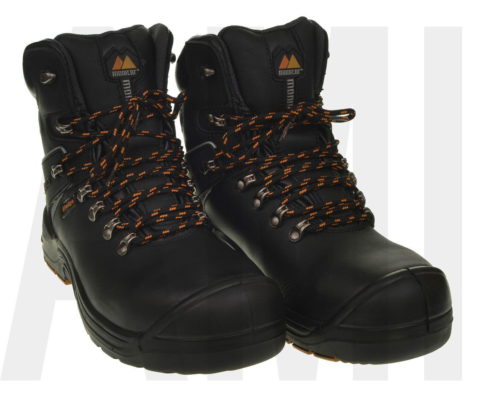 Recortes de precios estacionales, beneficios de descuento Botas para hombre Monitor De Seguridad Zapatos de trabajo tenis Puntera dura Protectora Tamaños 7-11