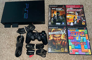 PS2 Fat Playstation 2 Console (SCPH-39001) Bundle System Lot w/ Games & Extras