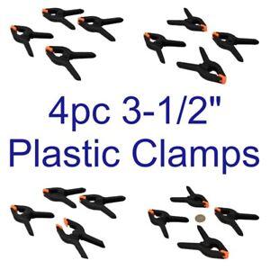 """4pc 3-1/2"""" En Plastique Collier Nylon Printemps Pinces Grips Clips Market Stall Cl112-afficher Le Titre D'origine Remise En Ligne"""