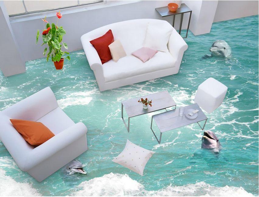 3D Fisch Wasser Sea 891 Fototapeten Wandbild Fototapete Bild Tapete Familie