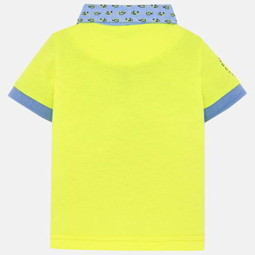 Mayoral Infant Boys Short Sleeved Polo In Neon Aged 18,24,36mths 0116-047