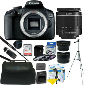 Canon-EOS-2000D-Rebel-T7-24-1MP-DSLR-Camera-18-55mm-Lens-All-You-Need-Kit
