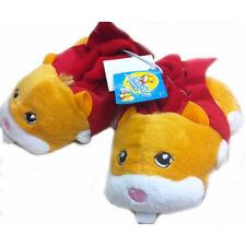 Baby Toddler Soft Slip-ons indoor Shoe Zhu Zhu Plush Hamster Child  S:6-7,2-3 y