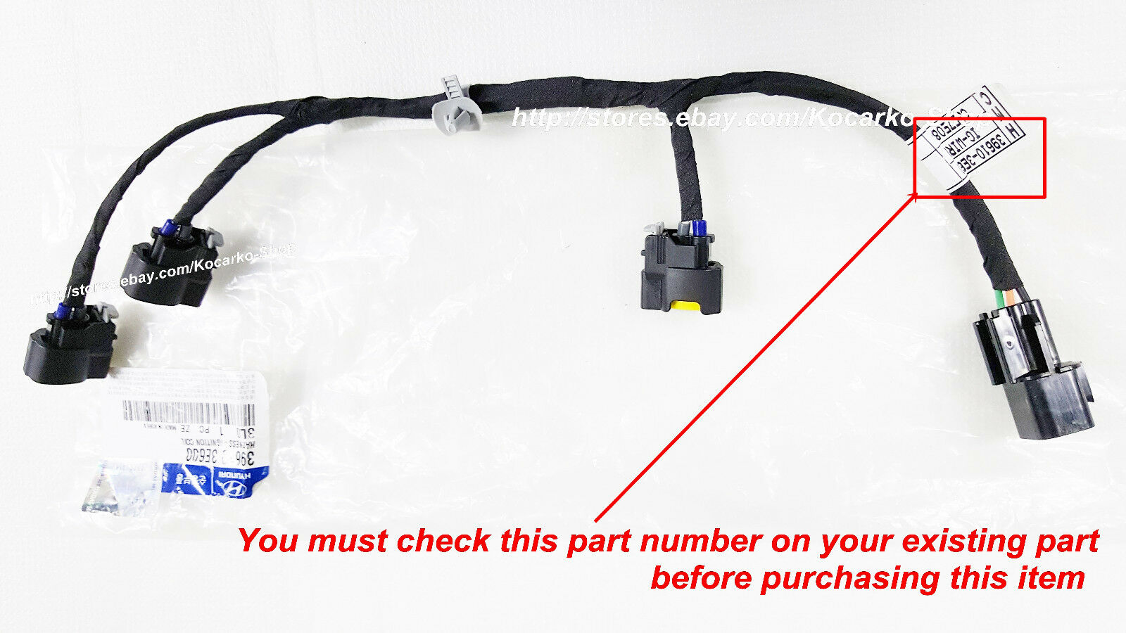 Ignition Wiring Harness Hyundai Electrical Diagrams Willys Jeep Distributor Oem Coil Wire For Santa Fe 2 7l 2007 2009 Gm Diagram