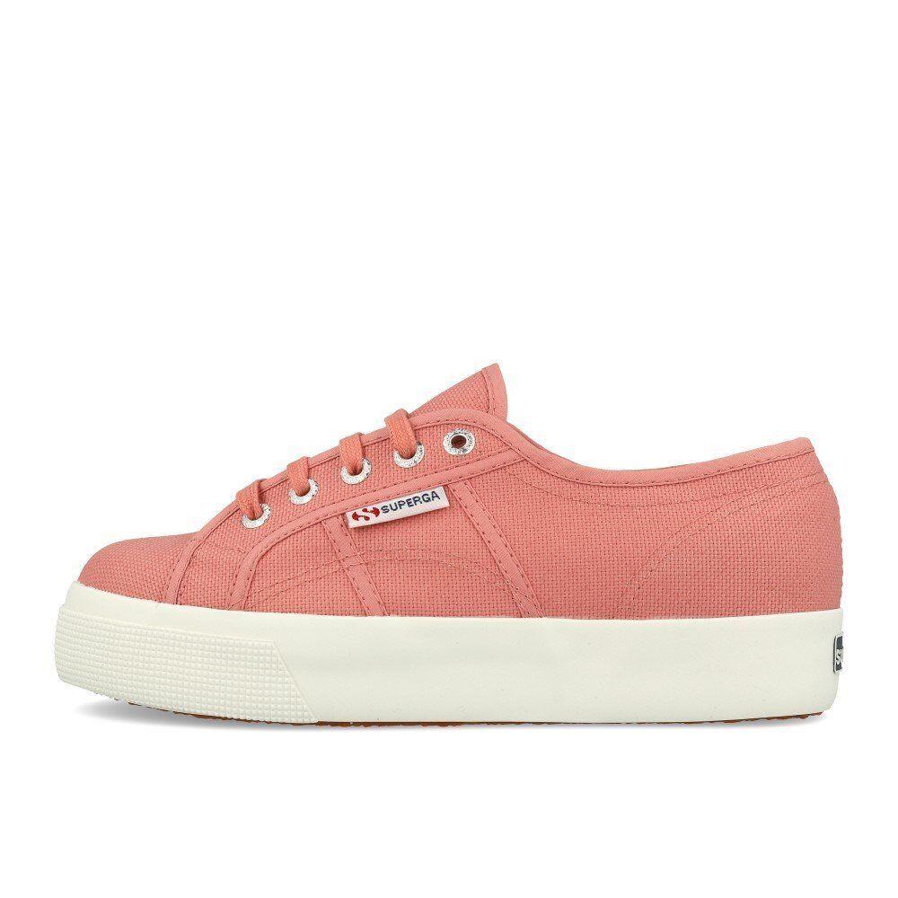 Superga 2730 Cotu Dusty Rose Wei  Plateau Schuhe Sneaker Rosa Weiß