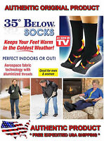 35 Below Socks 2 Pair Black Size Large As Seen On Tv Free Ship Usa Seller