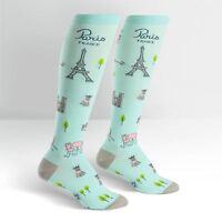 Sock It To Me Parisian Day Knee High Socks Derby Stylish Cute French Bulldog