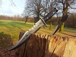 2er-Set-Bowie-Messer-Machete-Jagdmesser-Knife-Buschmesser-Costello-Macete-Neu