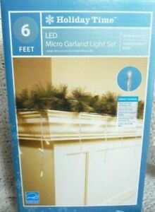 35 Warm White Micro Led Garland Light Set Christmas Wedding Party 6 Ft Long