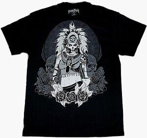 69e7e4a72 Image is loading Tattoo-Art-Aztec-Warrior-Woman-Mens-T-Shirt-