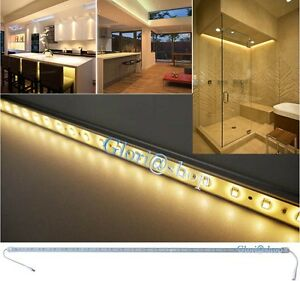 BARRA RIGIDA STRISCIA 72 LED LUCE CALDA 5630SMD 1MT 12V SOTTOPENSILE ...