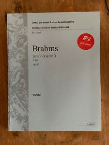 Johannes-Brahms-Symphonie-Nr-3-Op-90-sheet-music-orchestral-full-score-new