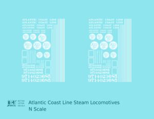 K4-N-Decals-Atlantic-Coast-Line-ACL-Steam-Locomotive-White