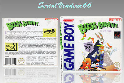 "BOITIER du jeu ""THE BUGS BUNNY CRAZY CASTLE"", GAME BOY. FR. HD. SANS LE JEU."