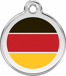 German-Flag-Engraved-Dog-Cat-ID-identity-Tags-discs-by-Red-Dingo-1DE
