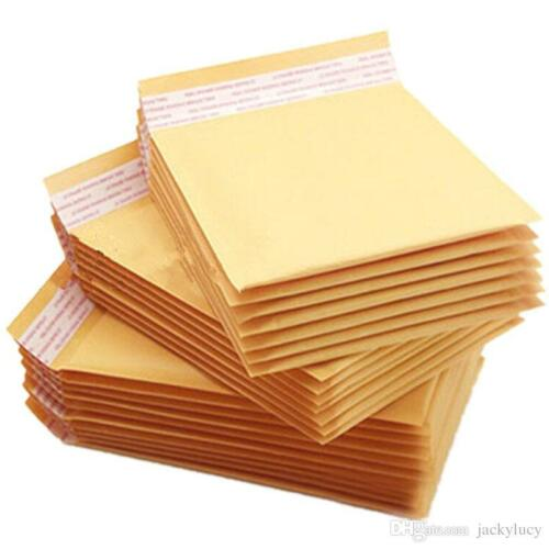 1 25 100 #000 00 0 1 2 3 4 5 6 7 Kraft Bubble Mailers Padded Shipping Envelopes