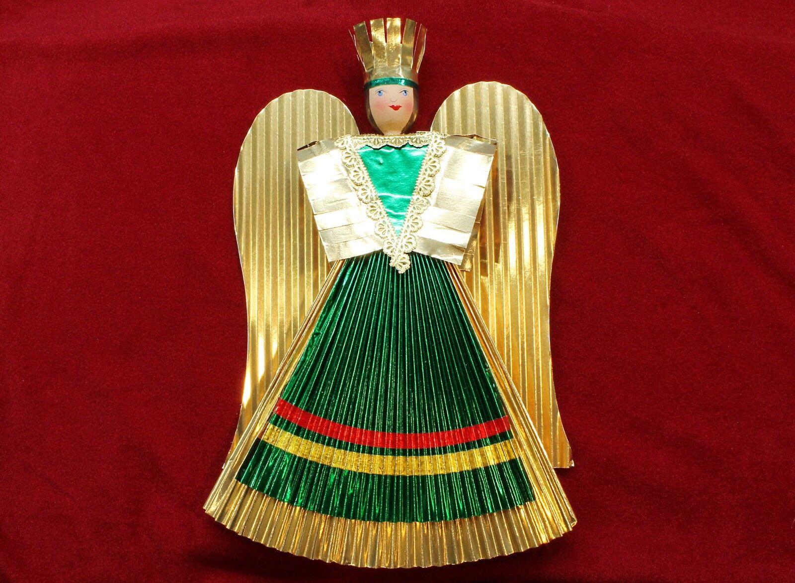 Núremberg oro Foil Angel - Hecho a Mano Angel Handmade de 12cm Hasta