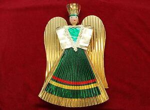 Carta-di-Norimberga-frenesia-oro-Angelo-lavoro-manuale-Angel-handmade-a-partire-da-12cm-fino-a-28-cm