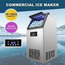 300w Portable Auto Commercial Ice Maker 45 Ice Cube 110lb24h Restaurant Bar Tet