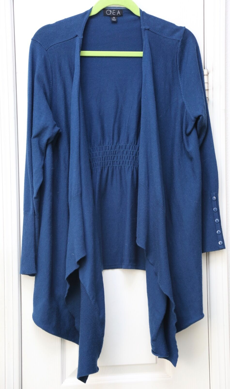One A woman's plus 1X bluee sweater NWOT