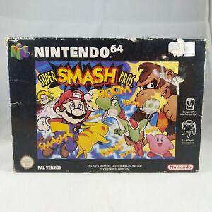 N64-Nintendo-Super-Smash-Brothers-PAL-RARE-No-manual-BOXED