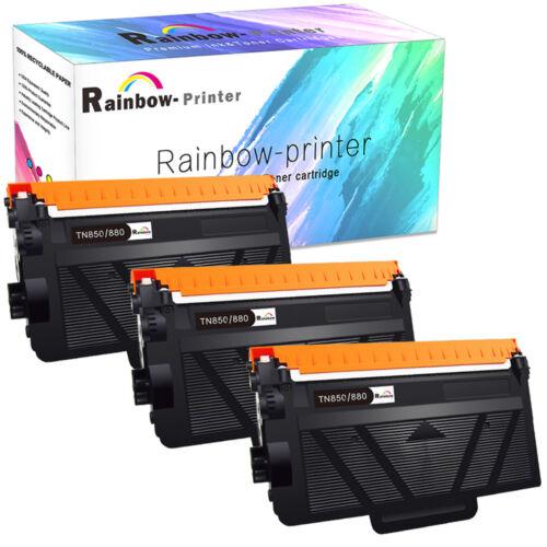 3PK High Yield TN880 TN850 Toner For Brother DCP-L5650DN MFC-L6700DW MFC-L6800DW