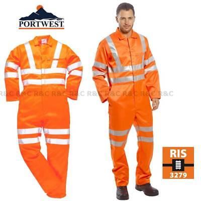 """Cosalt Hi Vis Orange en Polycoton Travail Pantalon Combat autoroutes Railway GO//RT 32/"""""""