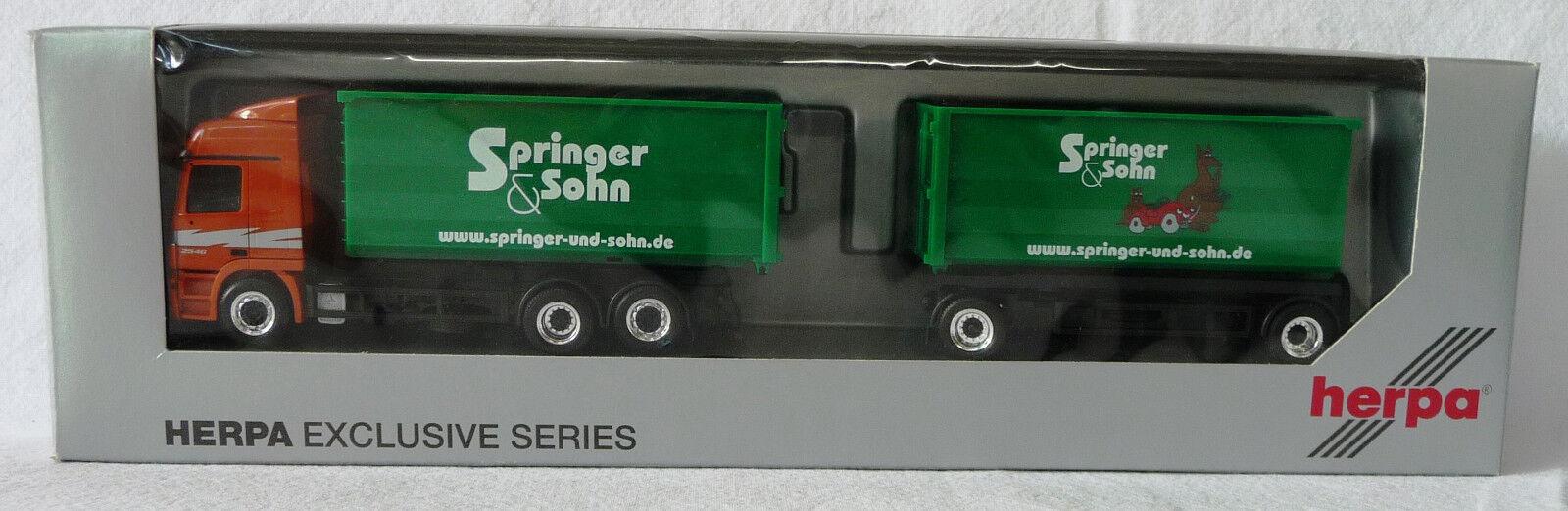 Herpa H0 287371  MB Actros L '02 Abrollmulden-Sattelzug  Springer & Sohn