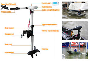 Trolling motor 100 lbs electric outboard 24v 2 hp variable for 2 hp variable speed motor